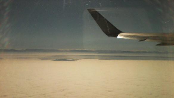 volando sobre nubes